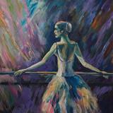 Baleriny Malarstwo akrylowe i pełne spektrum na płótnie i tekturze twórczej malarstwa artysty - 224603411