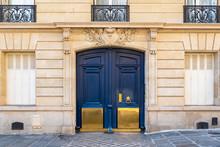 Paris, Old Wooden Door Boulevard Des Batignolles, Beautiful Entry Porch