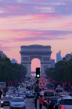 Arch Of Triumph At Sunset Time