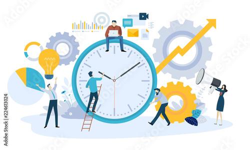 Carta da parati Vector illustration concept of time management