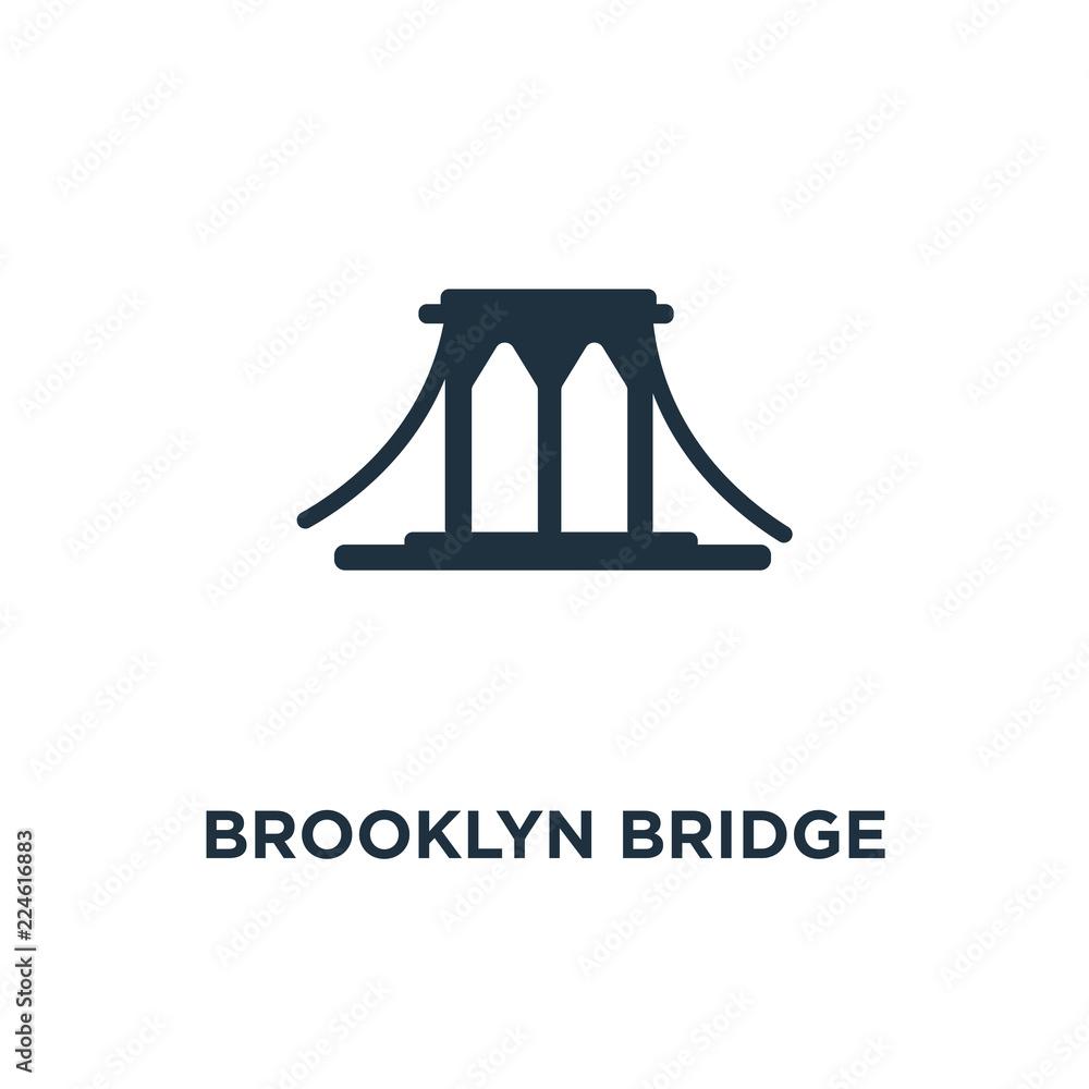 Fototapety, obrazy: brooklyn bridge icon
