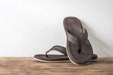 Men Sandals Footware Brown On ...
