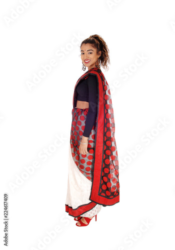 050b90fed2e3 Lovely young woman in an original Indian dress - Buy this stock ...
