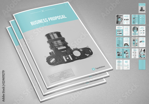 Business Proposal Layout With Blue Accents Buy This Stock Template