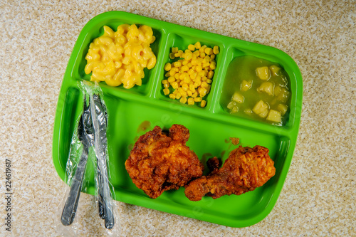 In de dag Assortiment Fried Chicken School Lunch