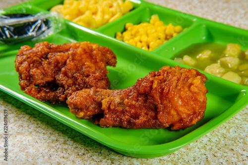 Fried Chicken School Lunch