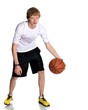 Well done guy with a ball for basketball