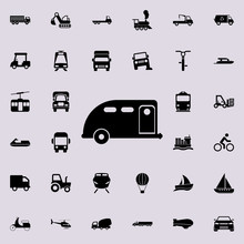 Car Trailer Icon. Transport Icons Universal Set For Web And Mobile