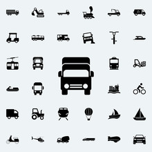 Cargo Front View Icon. Transport Icons Universal Set For Web And Mobile