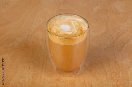 Obraz na płótnie Coffee cappuccino in the glass