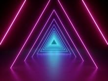 3d Render, Ultraviolet Neon Tr...
