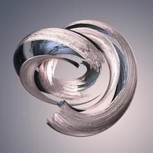 3d Render, Abstract Metallic Brushstroke, Silver Paint Smear, Splashing Platinum Shape, Rose Gold, Shiny Foil, Ribbon, Isolated Clip Art