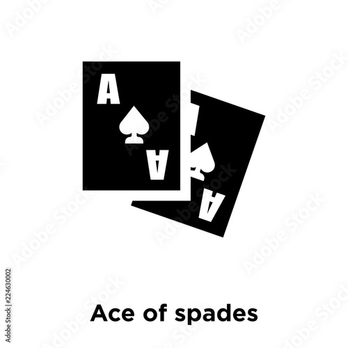 Photo  Ace of spades icon vector isolated on white background, logo concept of Ace of s