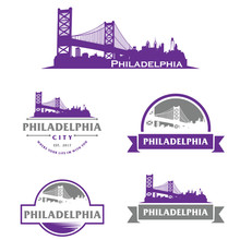 Philadelphia Logo, Skyline, City, Cityscape Logo Vector