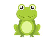 Cute Green Frog Cartoon Charac...