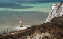 Beachy Head Lighthouse On Wind...