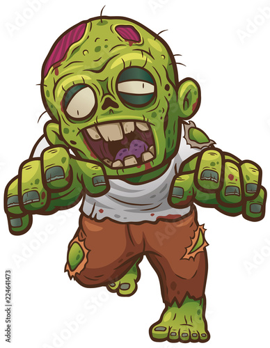 Stampa su Tela Vector illustration of Cartoon Zombie