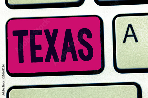Foto op Plexiglas Texas Handwriting text Texas. Concept meaning based on Caddo word taysha meaning friends and its located in us.