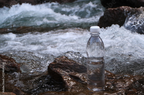 Staande foto Water Picture of a plastic bottle.