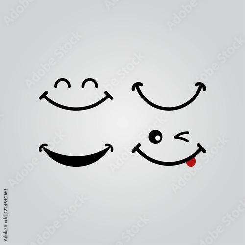 Obraz world smile day design - fototapety do salonu