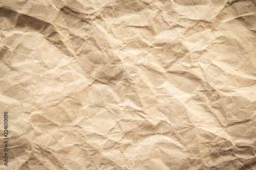 Fotografia, Obraz  Brown wrinkle recycle paper background