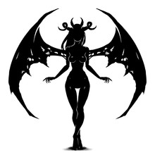Beautiful Demoness With Sharp ...