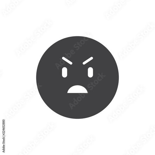 Fotografie, Obraz  Annoyed emoticon vector icon