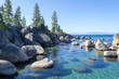 Leinwandbild Motiv Crystalline water at Sand Harbor in Lake Tahoe
