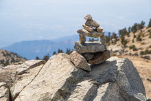 Cairn On California Mountain Peak