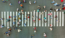 Pedestrian Crossing Top View. ...