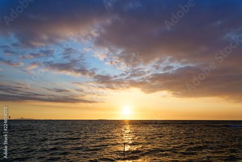 Beach sunset in Fiji