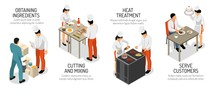 Cooking Infographic Isometric ...