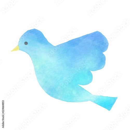 青い鳥のイラスト Fototapet