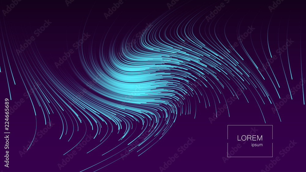 Fototapeta Abstract background. Bright colorful dynamic shapes . Eps10 vector illustration.