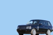 SUV With A Blank Blue Background
