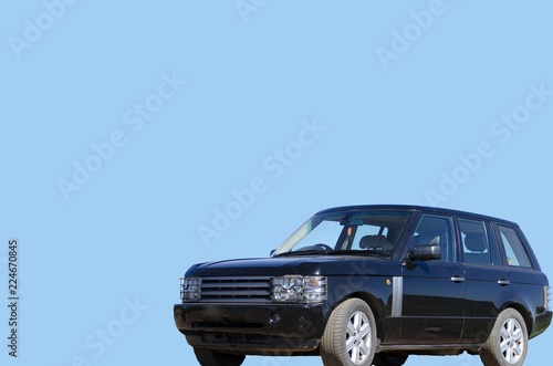 SUV with a blank blue background фототапет