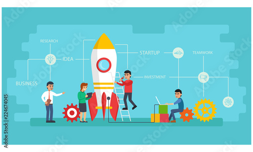 Photo  People are startup the plan to victory in business and they have fresh idea beca