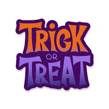 Trick Or Treat Handdrawn Lettering Typography