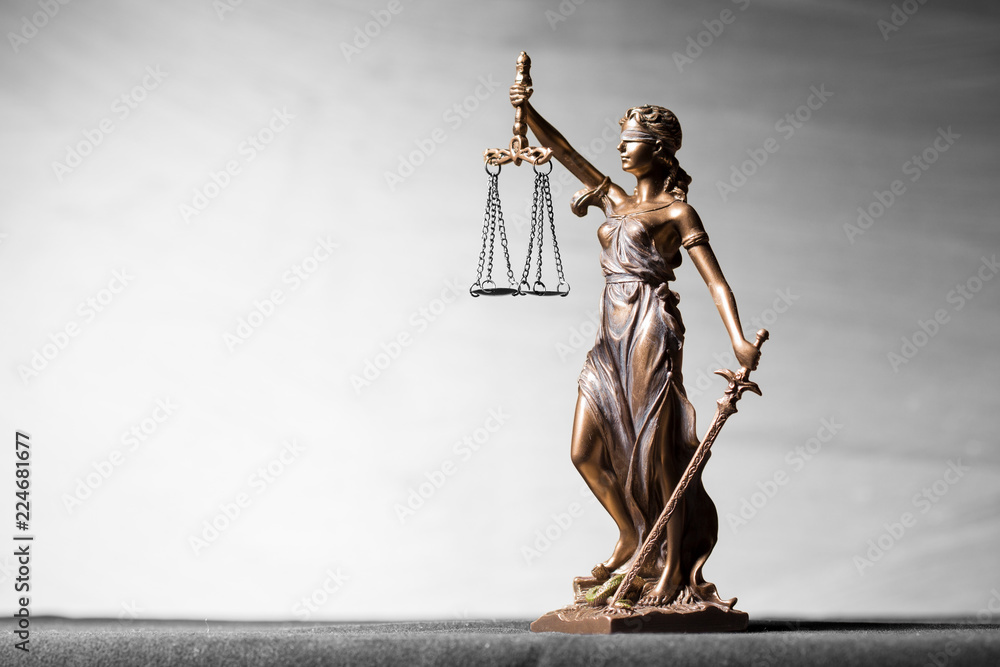 Fototapeta Themis statue, symbol of law and justice