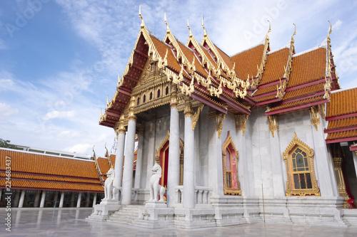 Fotobehang Bedehuis Wat Benjamaborpit or marble temple in Bangkok, Thailand.