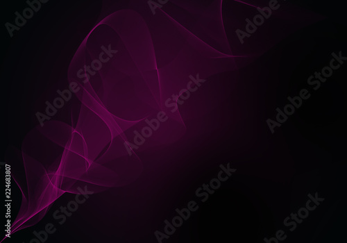 Elegant abstract purple and black background design with space for your text