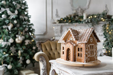 Gingerbread House In Living Ro...