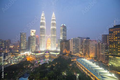 Photo Stands Kuala Lumpur asia city by night