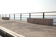 seaside pier on italian coast in morning light