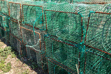 Fishing Traps For Fish And Octopuses. The Industry Of Fishing.