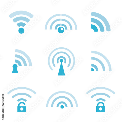 Wi-Fi And Wireless Icons Canvas Print