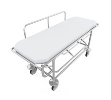 Hospital Stretcher Trolley Isolated