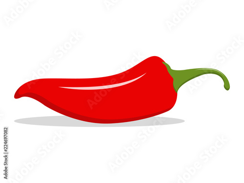 Tela Red hot natural chili pepper illustration