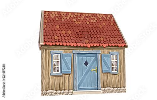 Altes kleines Hexenhaus Fototapet