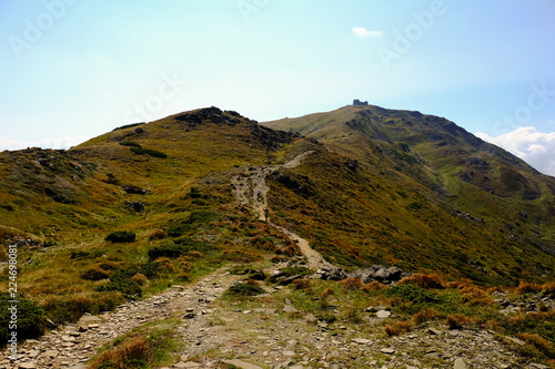 Tuinposter Pool beautiful mountain landscape, Mount Pop Ivan Chernogorskiy, summer Carpathians